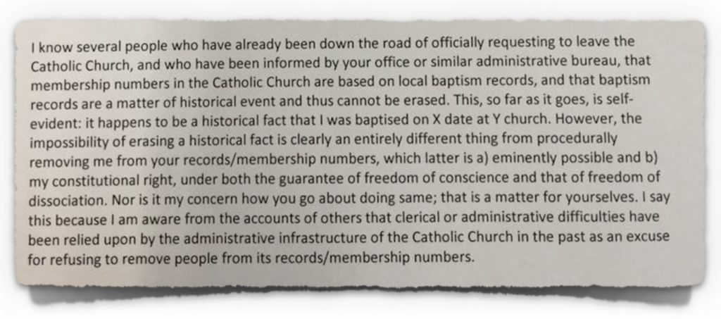 Extract from correspondence to the Archdiocese of Dublin from Katherine Finn BL